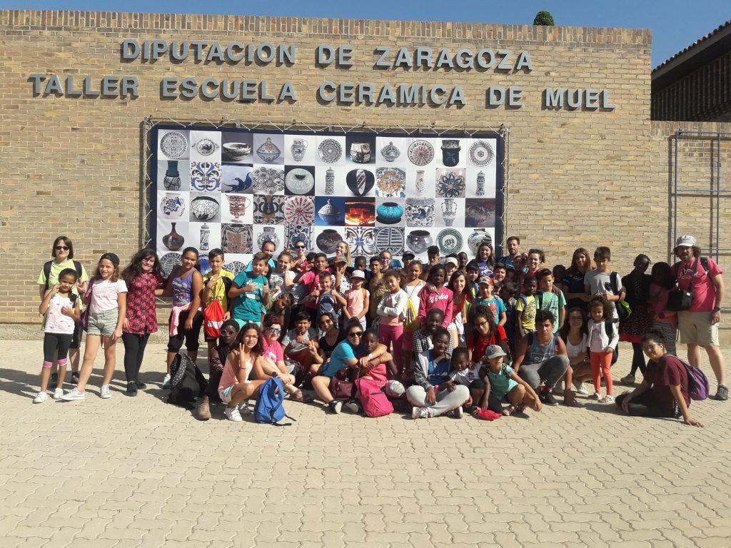 Excursión a Muel en las colonias de verano del CTL Sin Mugas