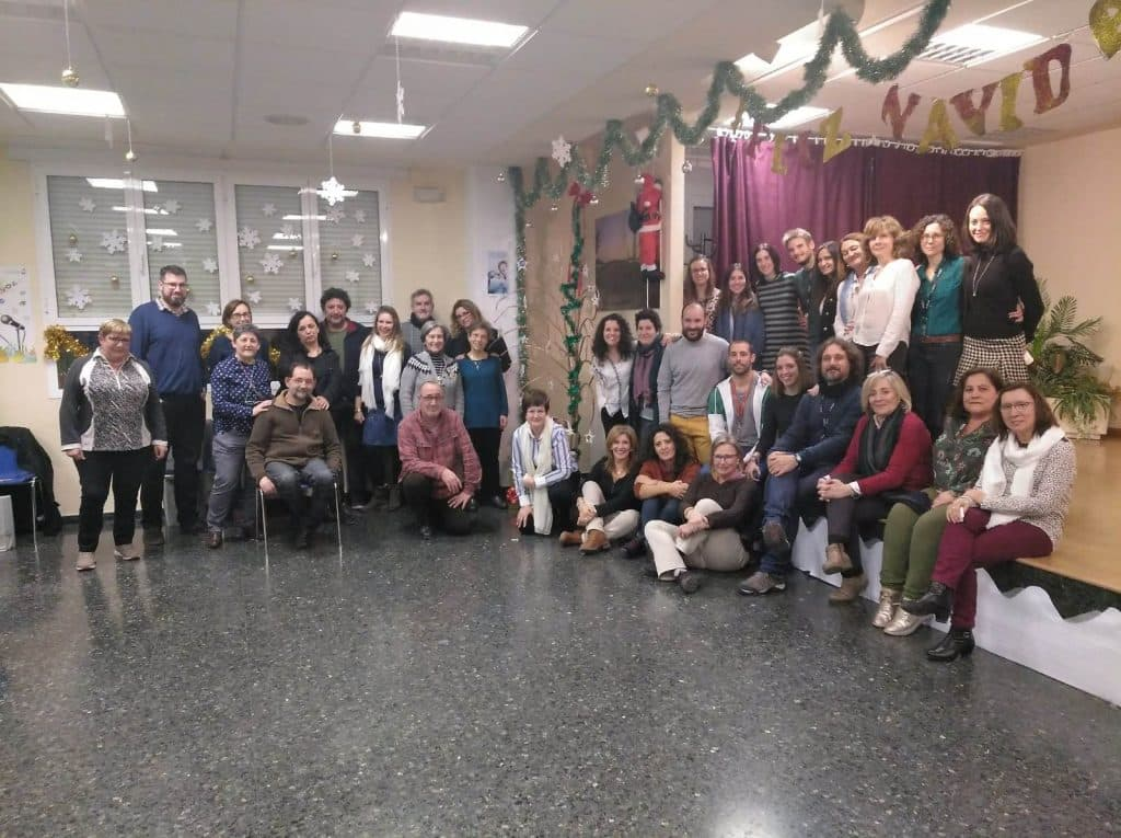Celebración Navideña de la comunidad educativa en la Fundación María Auxiliadora de Zaragoza