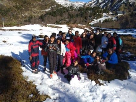 Excursión a la nieve con los adolescentes del CTL Sin Mugas