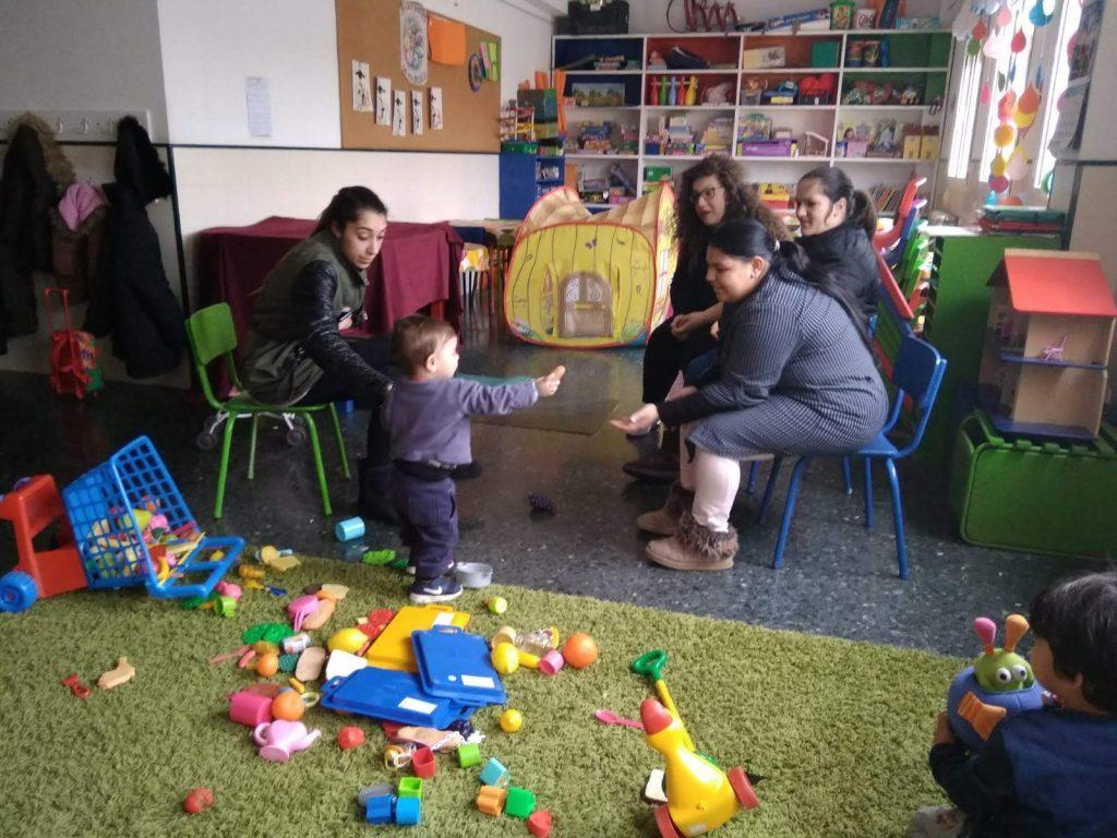 Educando en el juego espontáneo en el Centro Materno Infantil