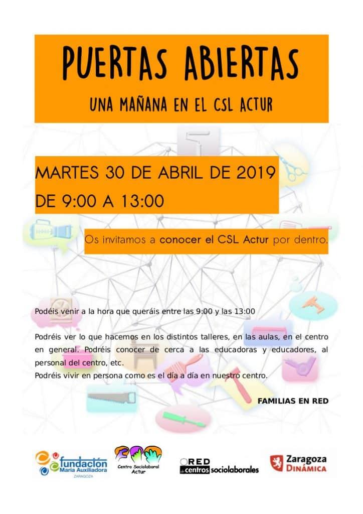 Centro Sociolaboral Actur - Jornada de PUERTAS ABIERTAS