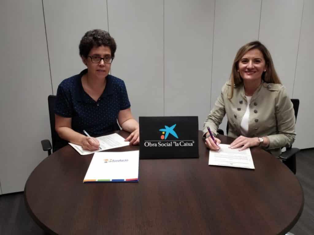 La FdMA firma convenio con la Fundación La Caixa